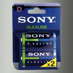 Piles alcalines LR20 - D – 1,5V Sony (blister de 2)