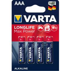 Piles alcalines LR03 - AAA Varta Max Tech (blister de 4)