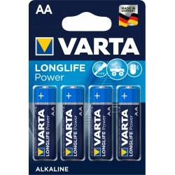 Piles alcalines LR06 - AA – 1,5V Varta High Energy (blister de 4