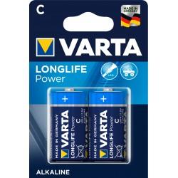 Piles alcalines LR14 - C – 1,5V Varta High Energy(blister de 2)