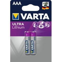 Piles Lithium AAA – 1,5V Varta Professionnal.(blister de 2)