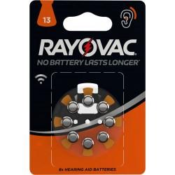 Piles acoustiques HA13 Rayovac (blister de 8)