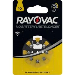 Piles acoustiques HA10 Rayovac (blister de 8)