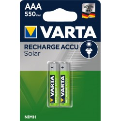 Piles rechargeables AAA - HR3 - 550mAH pour appareil solaire.