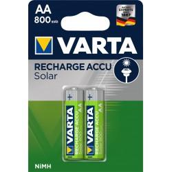 Piles rechargeables AA - HR6 - 800mAH pour appareil solaire.