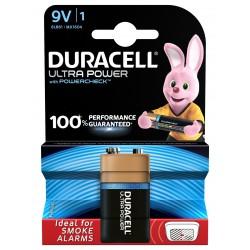 Pile alcaline 6LR61 - 9V Duracell Ultra power