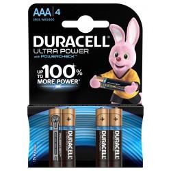 Piles alcalines LR03 - AAA Duracell Ultra power (blister de 4)