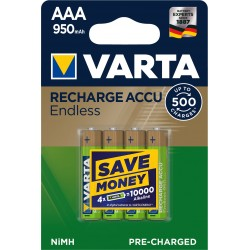 4 Piles rechargeable AAA 950 MAH