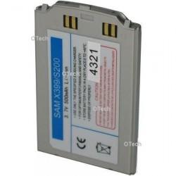 Batterie de remplacement pour Samsung X399 / S200 silver 3.7V Li-Ion 500mAh
