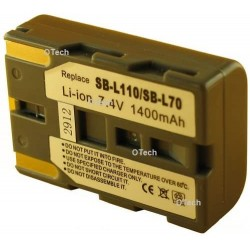 Batterie de caméscope pour Samsung SB-L110 7,4 V