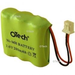 """Batterie de remplacement pour TSF DECT """"43"""" ACCUS OTech 3.6V Ni-Mh 280mAh"""