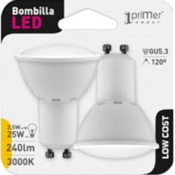 2 ampoules LED GU10 9W en blister - HIDALGO'S