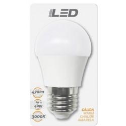Ampoules LED standard E27 6W 3000K en blister - HIDALGO'S
