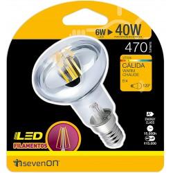 Ampoule LED FILAMENT E14 6W 2700K en blister - HIDALGO'S