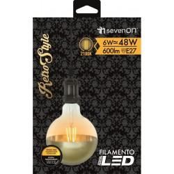 Ampoule FILAMENT INCANDESCENT E27 6W 2100K en carton - HIDALGO'S