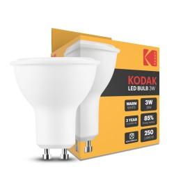 AMPOULE LED SPOT ALU-PLASTIC 3W GU10 100° 2700K 250lm - KODAK