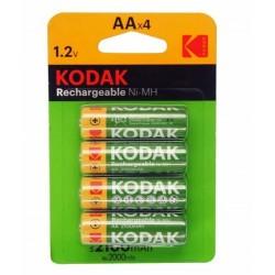 4 Piles KODAK Rechargeable HR06 en blister