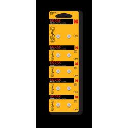 10 Piles Kodak AG13 LR44 / V13GA Pile bouton 1,5 V