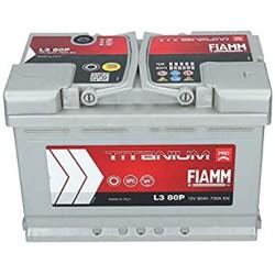 Batterie de démarrage - FIAMM TITANIUM PRO - L3 80 Ah