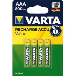 ACCU BASIC LINE HR03 800 MAH Blister de 4 piles - VARTA