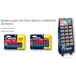 Meuble 201 Blisters 8+4 ALCALINE MAX POWER - VARTA