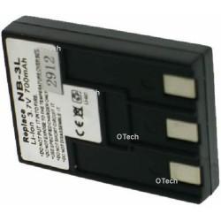 Batterie de remplacement pour Canon NB-3L black 3.7V L7/8